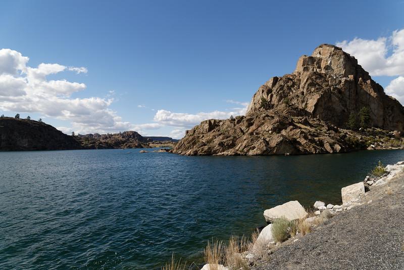 Rock formation on Banks Lake