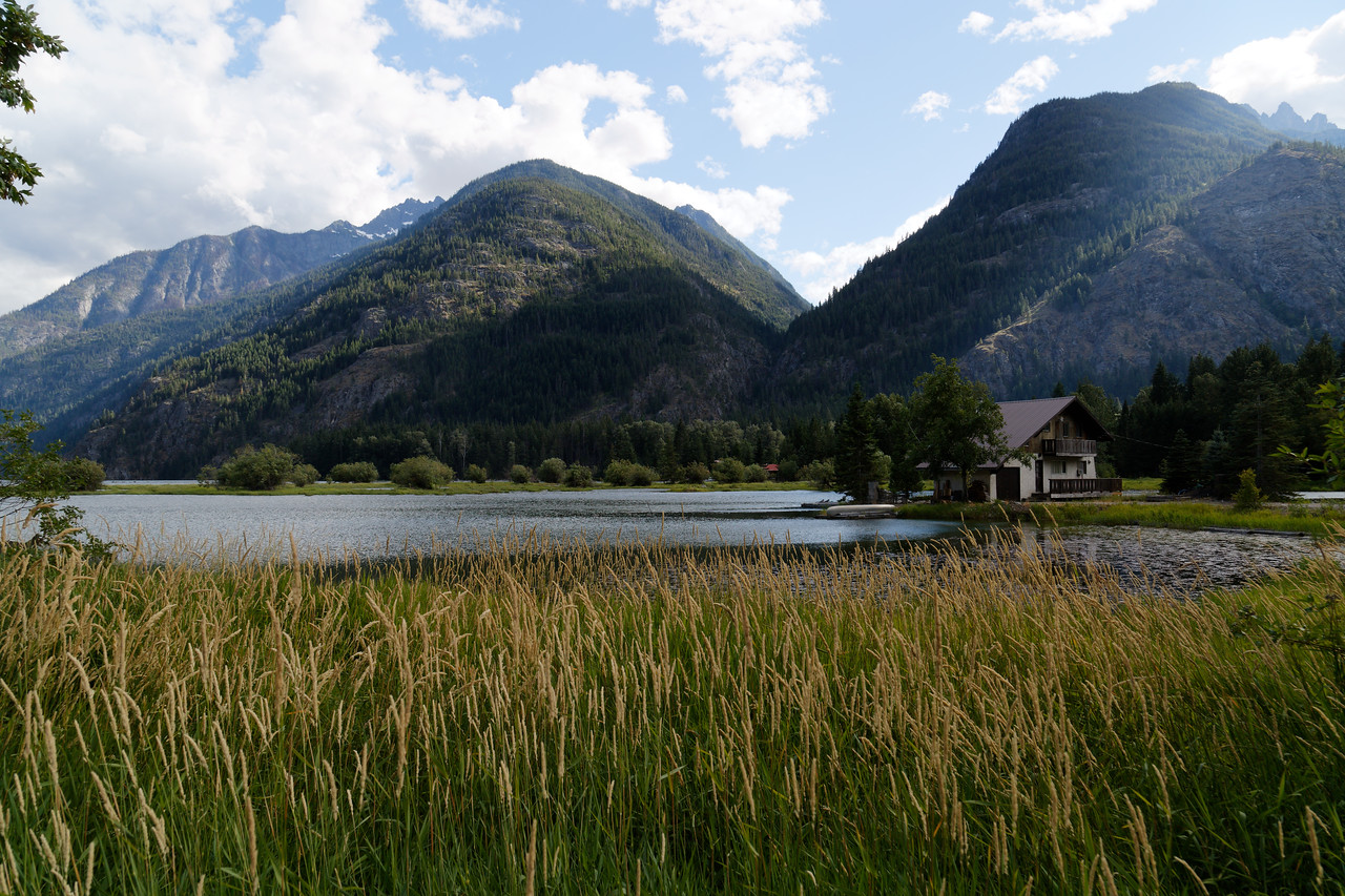 Lake Chelan, north end in Stehekin