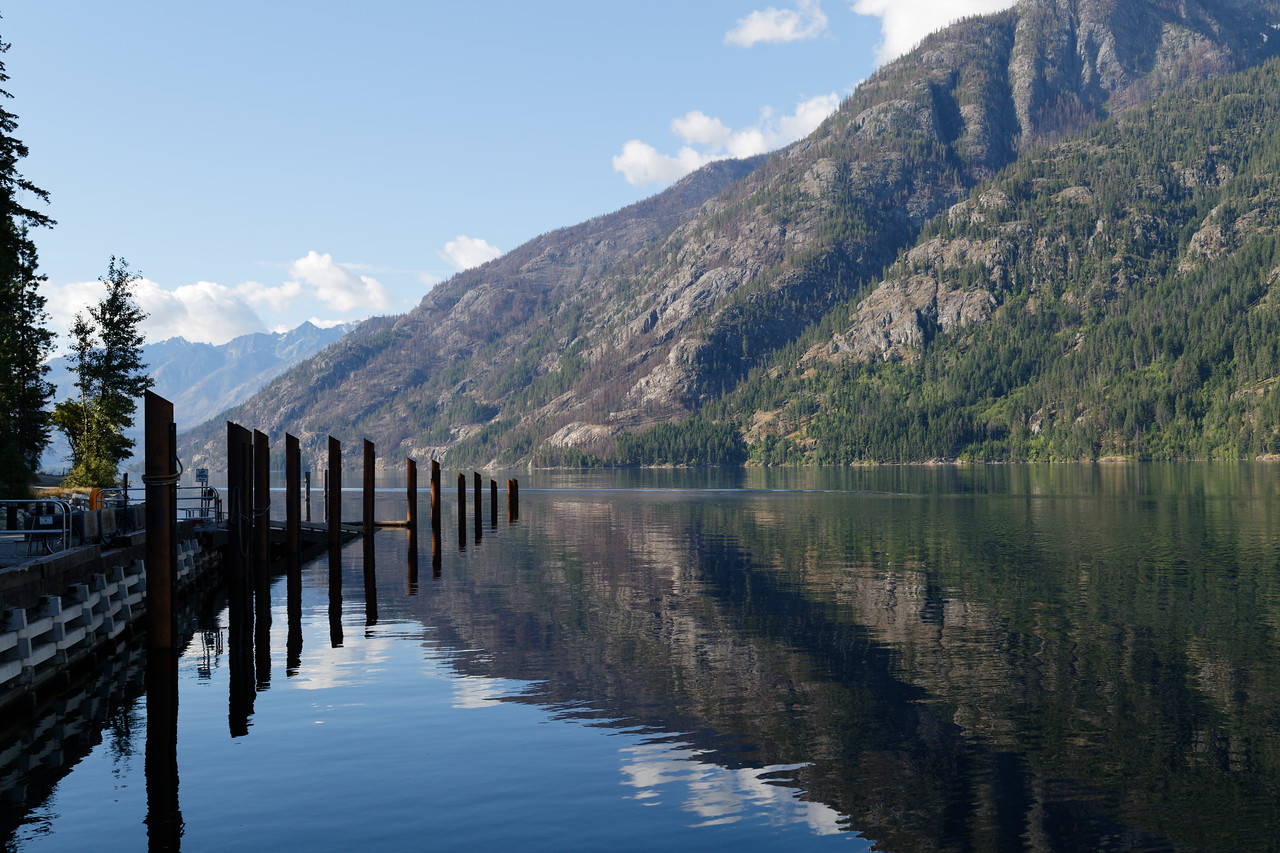 Lake Chelan from Stehekin, looking southeast