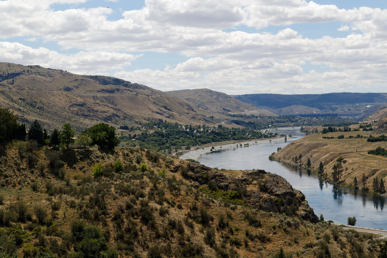 Columbia River below Grand Coulee Dam