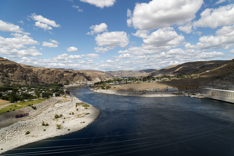 From top of Grand Coulee Dam