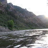 View down the Colorado River from my campsite at Glenwood Canyon Resort