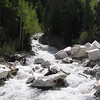 Yule Creek rushing over discarded marble chunks