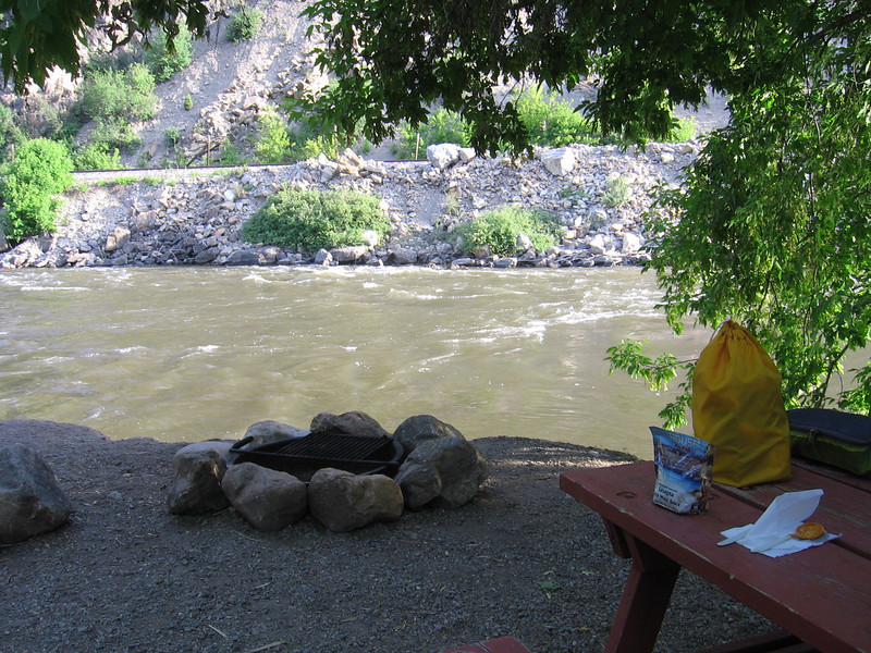 My Campsite at Glenwood Canyon Resort.