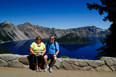 The bluest blue Crater Lake, Oregon Post-processing note:  Pictures take with a circular polarizer.  Color and saturation were not adjusted.   It's really blue!