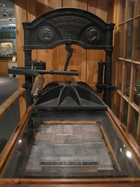 Washington hand press, ca. 1910-1919