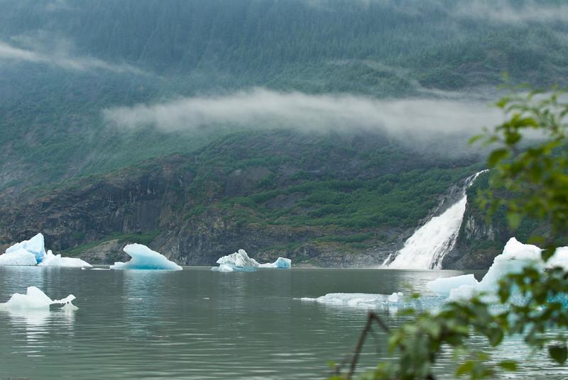 Mendenhall Glacier bergs near Juneau, AK.