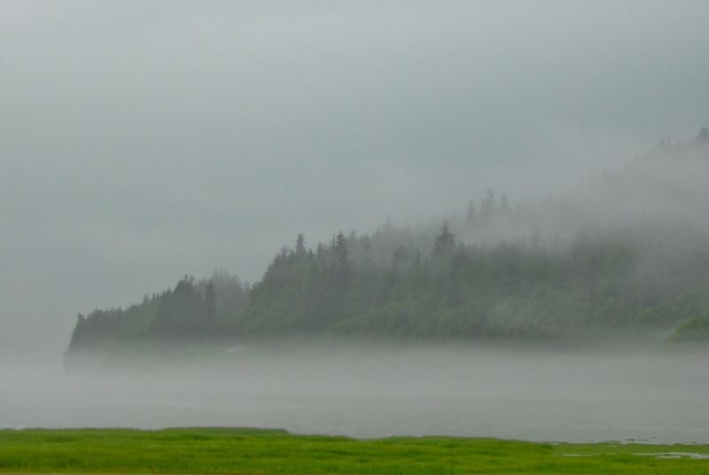 Foggy Inlet near Juneau, AK.