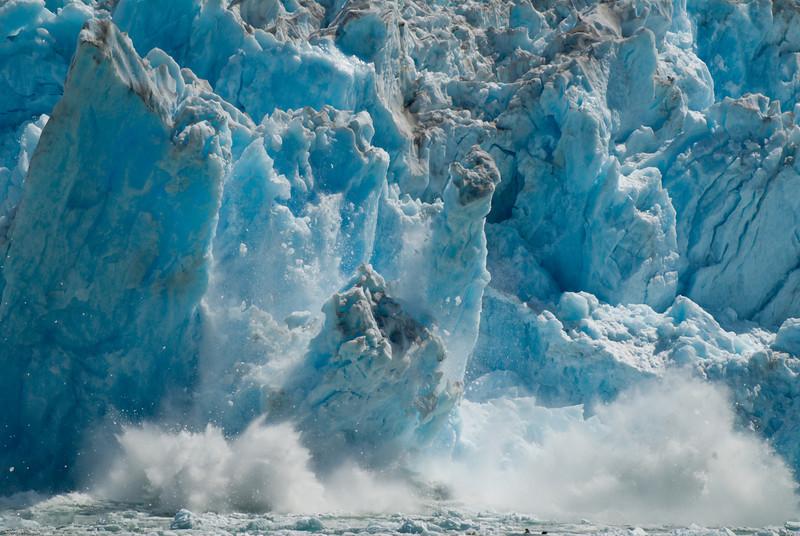 >>>glacier calving...