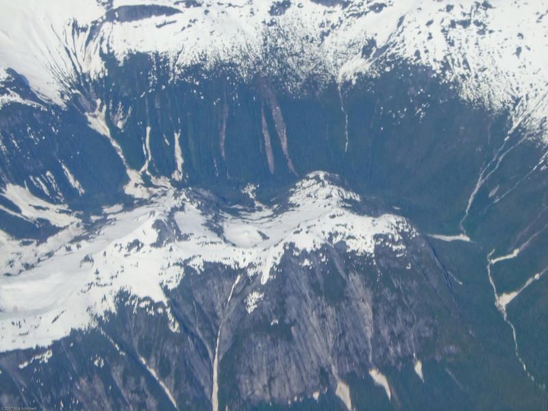 Juneau ice fields from 30,000 ft.