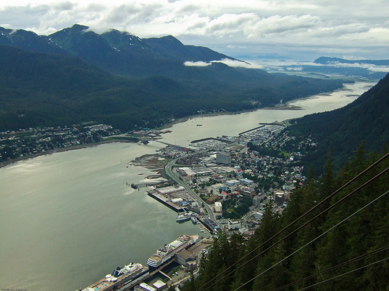 Tram view of Juneau, AK.