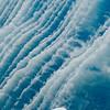 Glacial berg grinding ridges