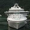A cruise ship docked at the Port of Juneau, Alaska.