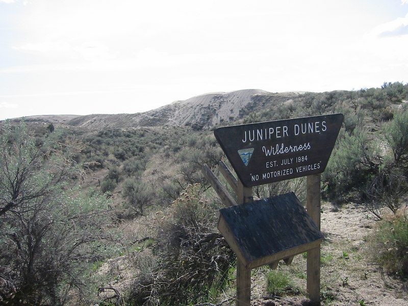 Entrance to Juniper Dunes National Wildlife Refuge