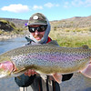 Jedwards with a gorgeous upper river fish.  Photo: Kyle Travis