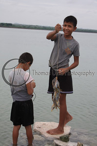 Catch of the day! El Remate, Guatemala.