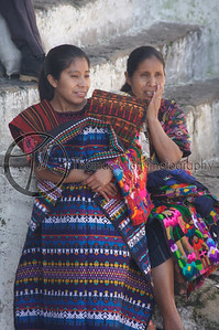 Can you believe she is wearing that!?!  Part I see next photo. Chichicastenango, Guatemala.