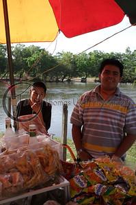 A platanito stand in San Ignacio, Belize.