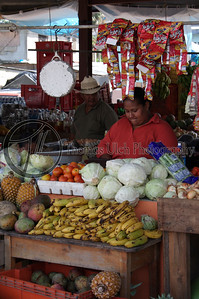 A fruit stand in San Ignacio, Belize.