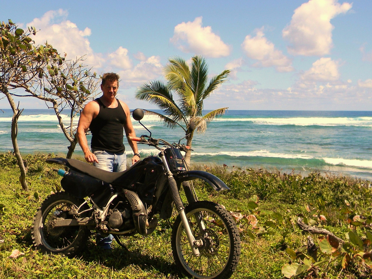 Cavebiker with his 1984 Yamaha DT125 Water-cooled Enduro
