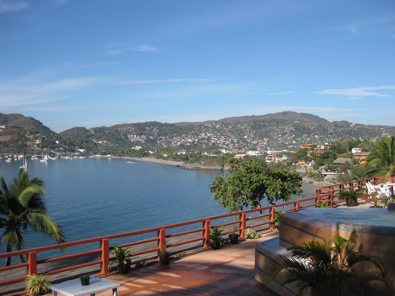 Zihua bay from Hotel Irma deck