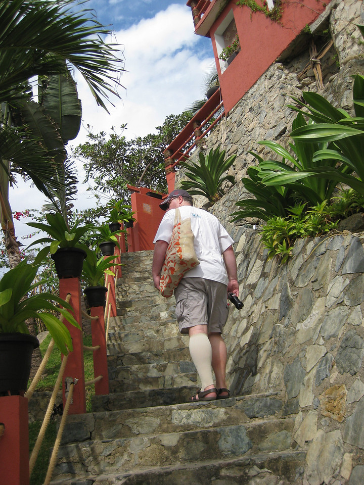 Steps up to the hotel from Playa Madera
