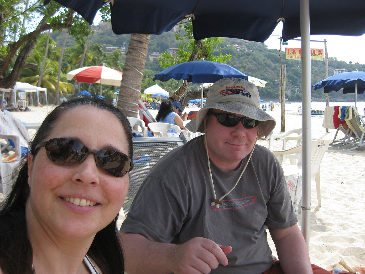 Hangin on Playa La Ropa at Perla's