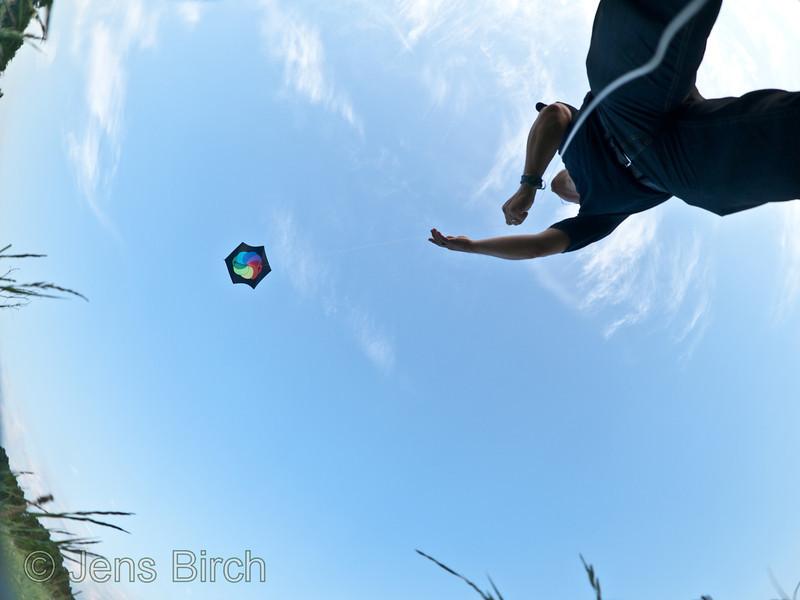 Retrieving the kite