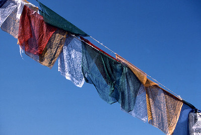 Prayer flags at Bodnath