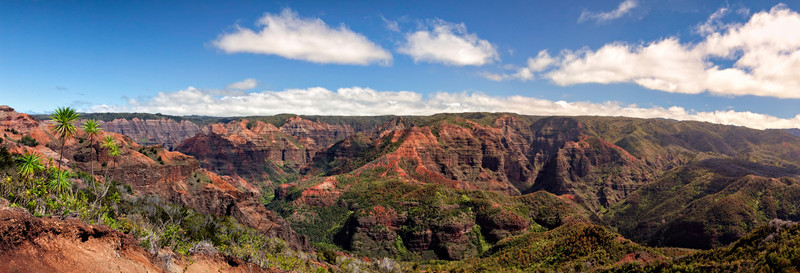 "5-SHOT ""STITCHED"" PANORAMA OF WAIMEA CANYON"