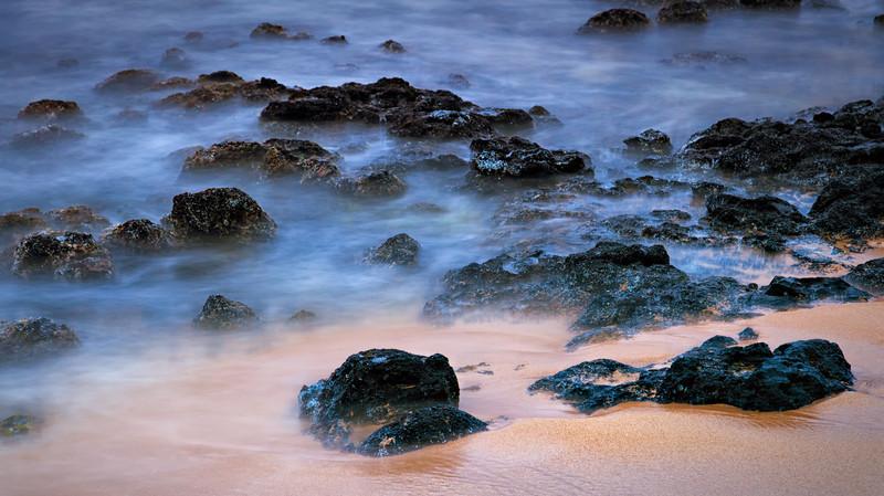 POIPU BEACH LAVA ROCKS