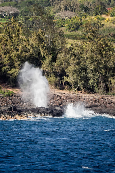 """SPOUTING HORN"" ON POIPU COAST"