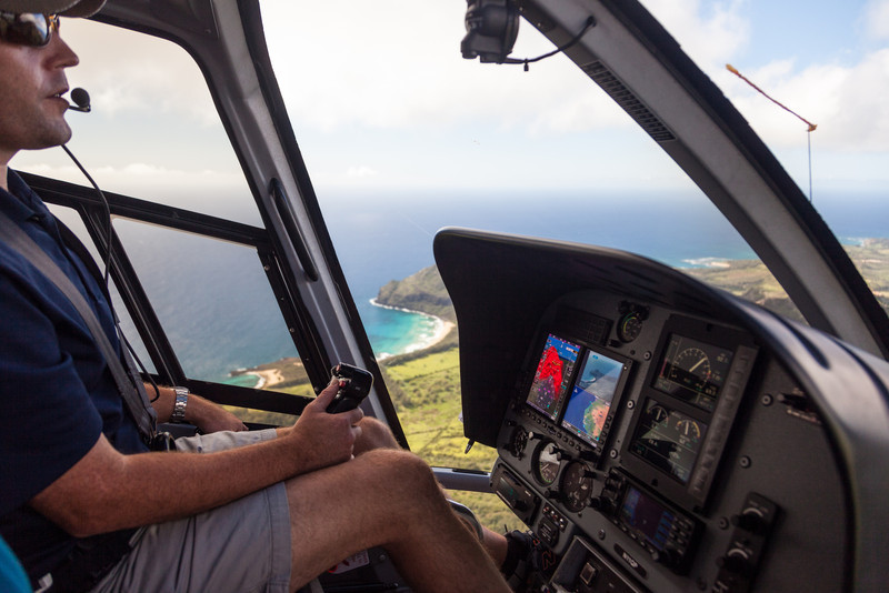 NATHAN WAS OUR PILOT WITH BLUE HAWAIIAN HELICOPTERS.