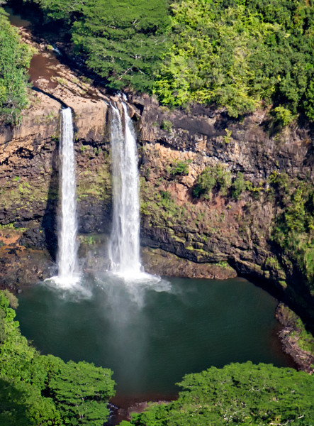 "WAILUA FALLS - THESE ARE THE FALLS SEEN ON THE T.V. SERIES ""FANTASY ISLAND."""