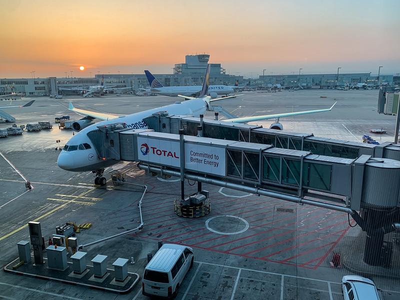 SUNRISE AT FRANKFURT, GERMANY AIRPORT