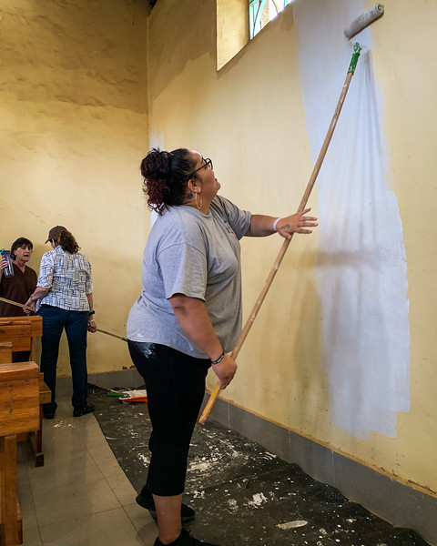 PAINTING THE CHAPEL WITH PRIMER