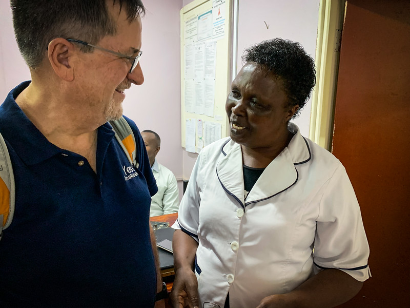 DOUG MEETING WITH JOYCE  - THE EYE NURSE PRACTITIONER AT THE HOSPITAL