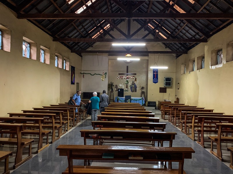 CHAPEL PRIOR TO WALLS BEING REPAINTED