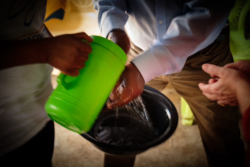 """""""WASHING OF HANDS"""" PRIOR TO THE CHURCH LUNCHEON"""