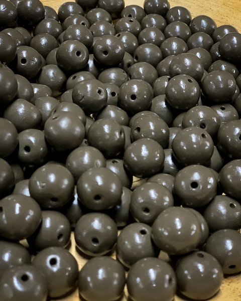 BEADS ARE FORMED FROM CLAY