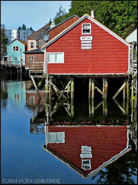 """""""CREEK STREET"""",Ketchikan,Alaska,USA."""
