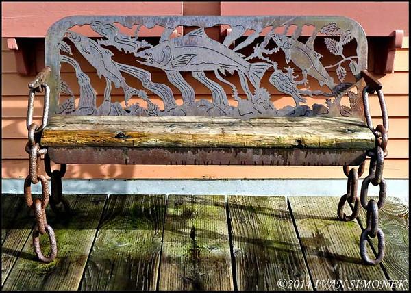 """FISHY BENCH"",Ketchikan,Alaska,USA."