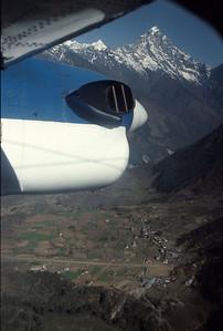 Approaching Lukla, the gateway to the Khumbu