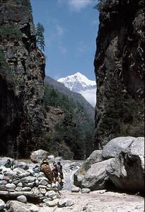 The gorge below Namche Bazaar