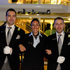 River Beatrice hotel manager Carla de Bejar, flanked by butlers Ivan (left) and Lazlo.