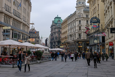 The Graben (German: trench) is one of the most important commercial streets in Vienna. The current street was, during Roman times, a trench that lay directly beneath the city wall. In the late 12th century, using money they received for the ransom of King Richard I of England (Richard the Lionheart), the ruling Babenburg Dukes had the trench filled in and leveled. Originally, the resulting street was a residential area. Today, it enjoys its status as one of the principal shopping districts of Vienna while yet retaining its name from Roman times.