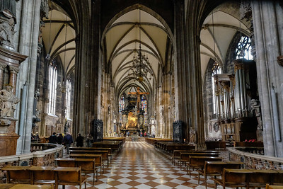 St. Stephen's Cathedral, unlike the many Baroque churches in Austria and along the Danube, is decidedly Gothic.