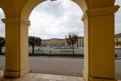 During Maria Theresa's renovations of Schönbrunn, the central court was modified to create a spacious carriageway.