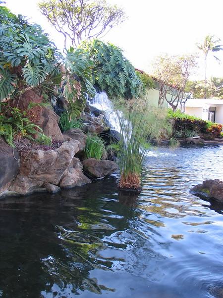 Ka'anapali Beach Club waterfall