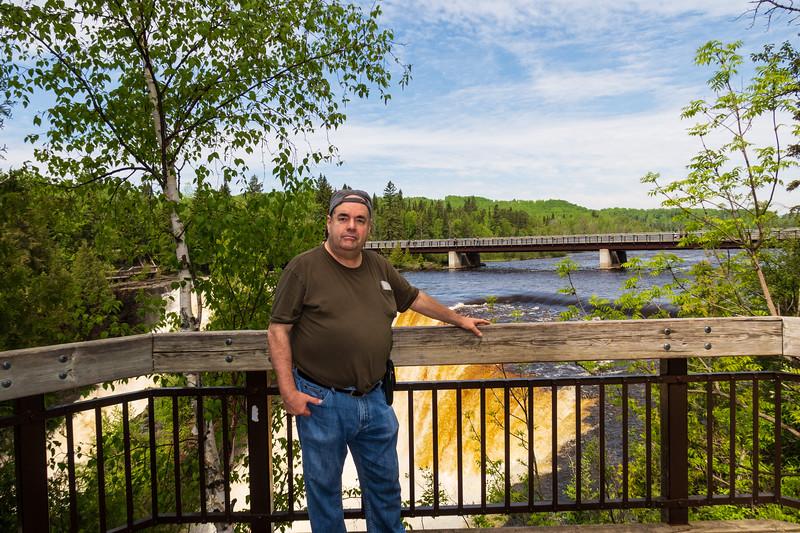 Denise Lantz photograph of Paul Lantz at Kakabeka Falls